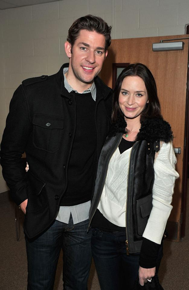 John Krasinski and Emily Blunt are seen out and about during the 2012 Sundance Film Festival in Park City, Utah on January 22, 2012.