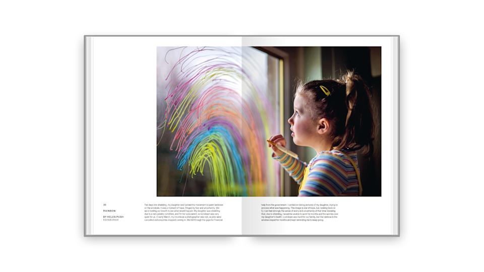 The inside of the book - the images are displayed with their story. (The National Portrait Gallery)