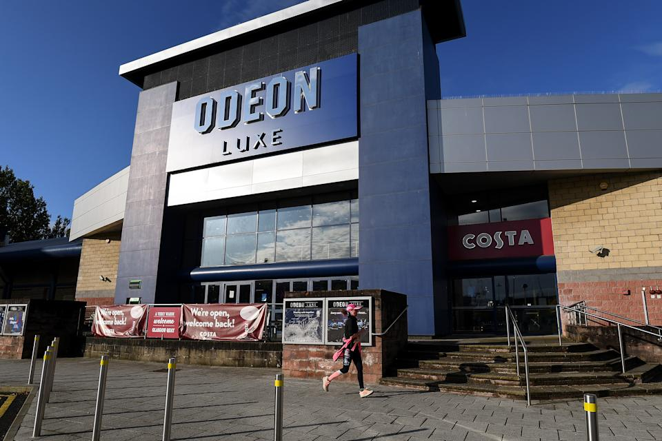 Odeon Cinema in Glasgow, Scotland, October 2020. (Photo by Jeff J Mitchell/Getty Images)