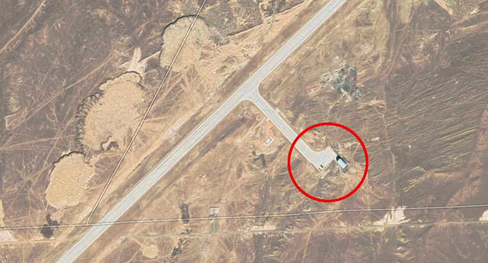 The area where construction has begun at the abandoned airstrip in China. Source: Google Maps