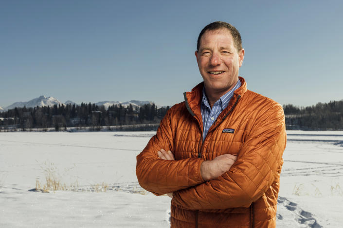 This undated file photo, provided by the Gross for Senate campaign, shows Independent candidate Al Gross. Gross is the leading candidate in the Alaska Democratic Primary, which will be held Aug. 18, 2020. (Gross for Senate Campaign via AP)