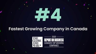 Mistplay claimed the No. 4 spot on the Globe and Mail's 2020 ranking of Canada's Top Growing Companies. (CNW Group/Mistplay)