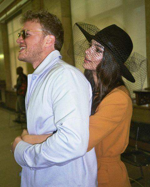 "<p>Supermodel Emrata surprised and delighted many with her <a href=""https://www.cosmopolitan.com/uk/entertainment/a18707062/emily-ratajkowski-married/"" rel=""nofollow noopener"" target=""_blank"" data-ylk=""slk:laidback courthouse wedding"" class=""link rapid-noclick-resp"">laidback courthouse wedding</a> to partner Sebastian Bear-McClard, wearing a 1970s inspired trouser suit from high street champions Zara. Channeling major Bianca Jagger vibes, we are in awe. </p><p><a href=""https://www.instagram.com/p/B86gm79hlZs/?utm_source=ig_embed"" rel=""nofollow noopener"" target=""_blank"" data-ylk=""slk:See the original post on Instagram"" class=""link rapid-noclick-resp"">See the original post on Instagram</a></p>"