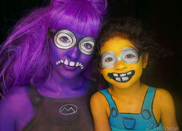 PHOTO: Dehsarae Mahrae and her daughter Khayah transform into Minions from 'Despicable Me.' (Courtesy Dehsarae Mahrae)