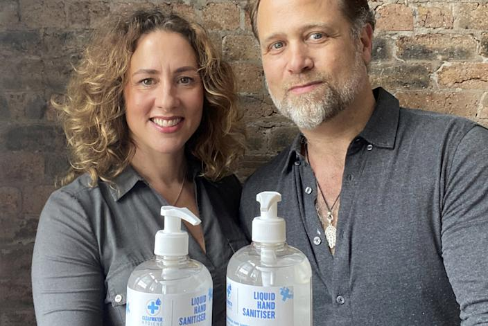 Rachel and Andrew Montague, founders of ClearWater Hygiene (SWNS)