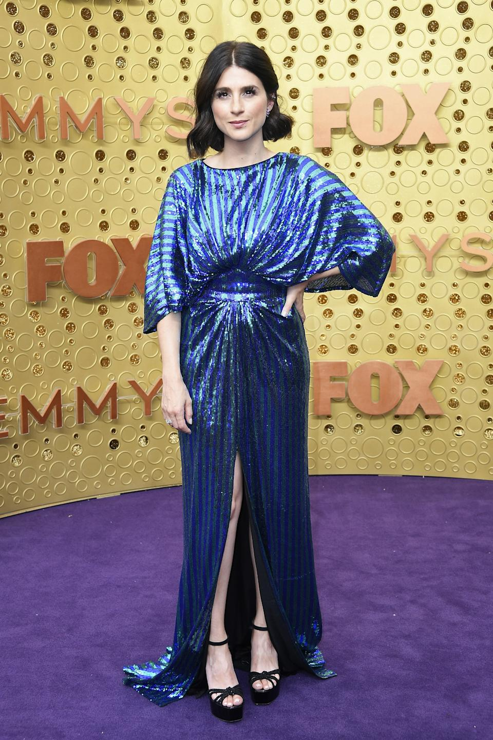"""<h1 class=""""title"""">Aya Cash in Tadashi Shoji and Hearts On Fire, Anabela Chan, and Marli jewelry</h1><cite class=""""credit"""">Photo: Getty Images</cite>"""