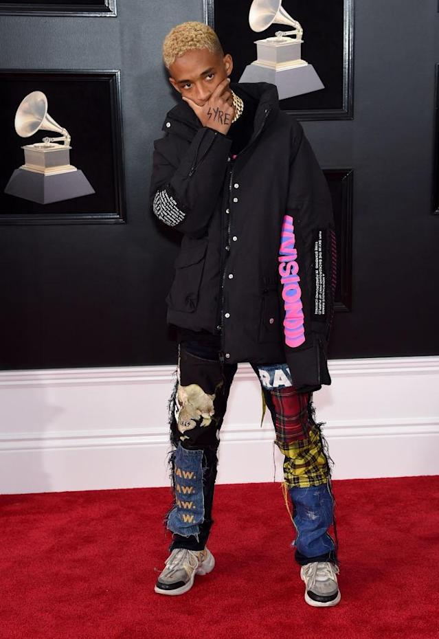<p>Jayden Smith attends the 60th Annual Grammy Awards at Madison Square Garden in New York on Jan. 28, 2018 .(Photo: John Shearer/Getty Images) </p>