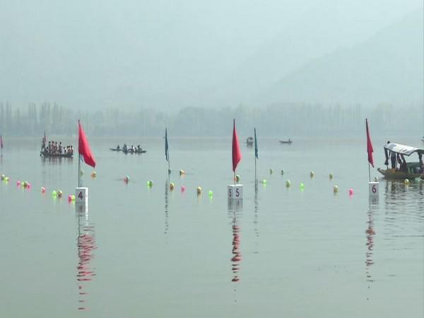 Water sports have resumed in Dal lake in Srinagar after a long gap due to COVID-19 pandemic. [Photo/ANI]