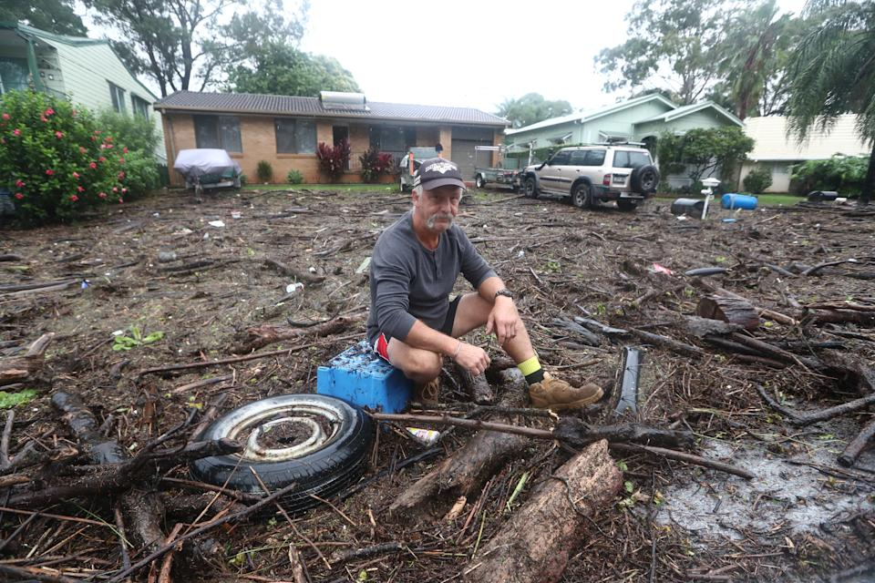 Resident Shaun Ratko at his home in Port Macquarie. Source: AAP
