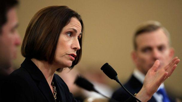 PHOTO: Former White House national security aide Fiona Hill, and David Holmes, a U.S. diplomat in Ukraine, right, testify before the House Intelligence Committee on Capitol Hill in Washington, Nov. 21, 2019. (Manuel Balce Ceneta/AP)