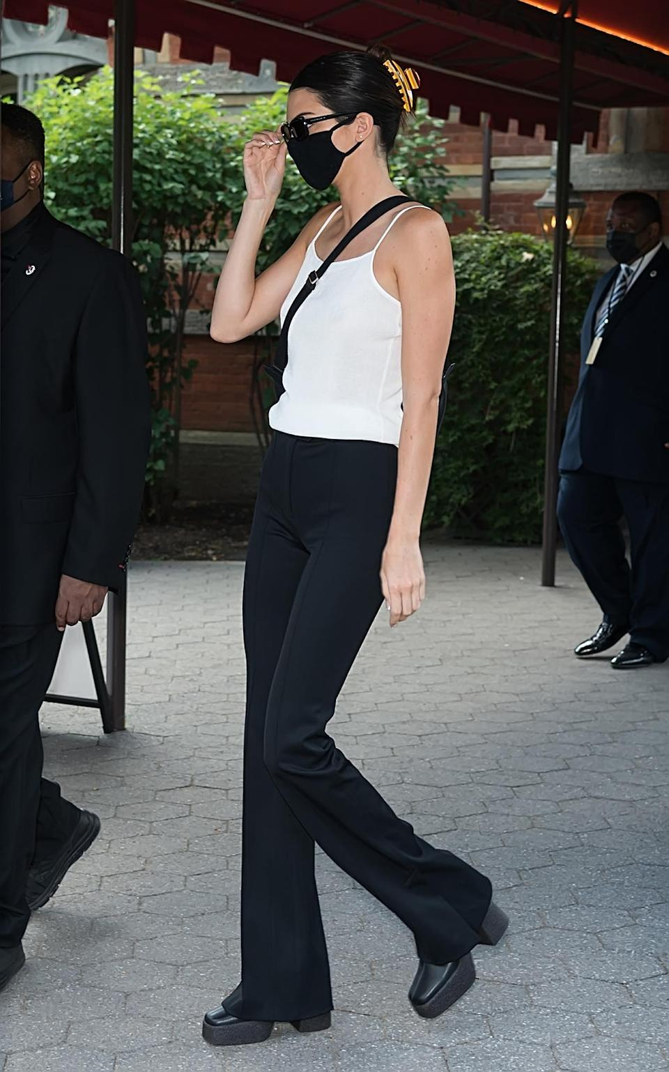 Kendall Jenner is seen in a casual outfit during New York Fashion Week.  - Credit: Ouzounova / SplashNews.com
