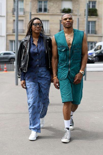 PHOTO: Nina Earl and Russell Westbrook on June 19, 2019 in Paris. (Vanni Bassetti/Getty Images, FILE)