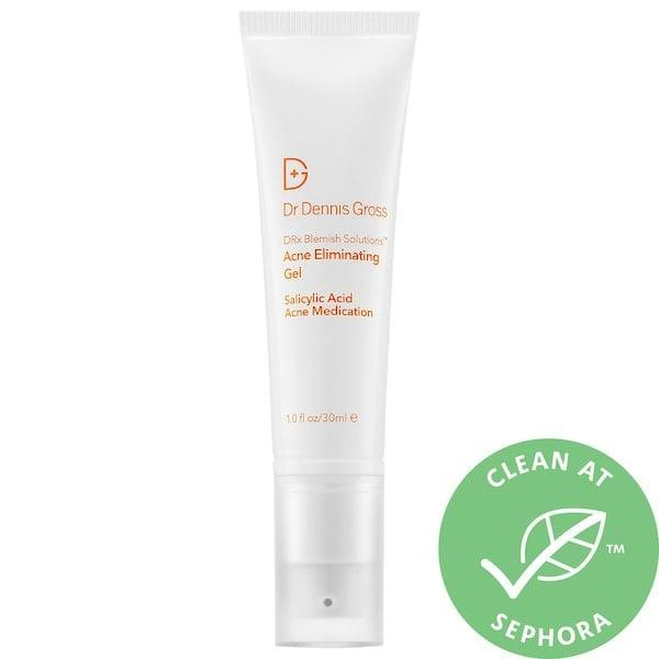 <p>The secret ingredient in this <span>Dr. Dennis Gross Skincare DRx Blemish Solutions Acne Eliminating Gel</span> ($40) is its monk's pepper, which addresses oil production that can lead to clogged pores. That (along with salicylic acid and niacinamide) helps clear the skin - and, no doubt, accounts for its 96 percent average recommendation rating from other Sephora shoppers.</p>