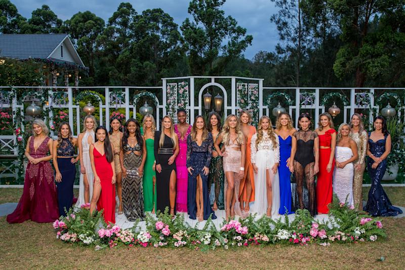Pictured here are the twenty eight contestants of Channel Ten reality show The Bachelor