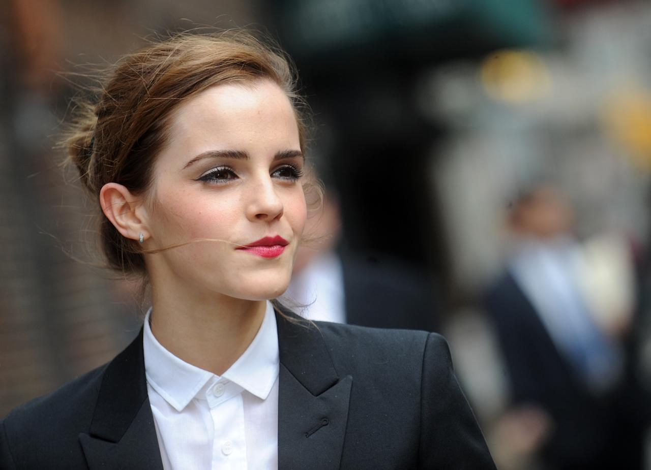 <p>Actress Emma Watson stole the top spot for the most searches this year. Here's to hoping it was for her feminist views… <em>[Photo: Getty]</em> </p>