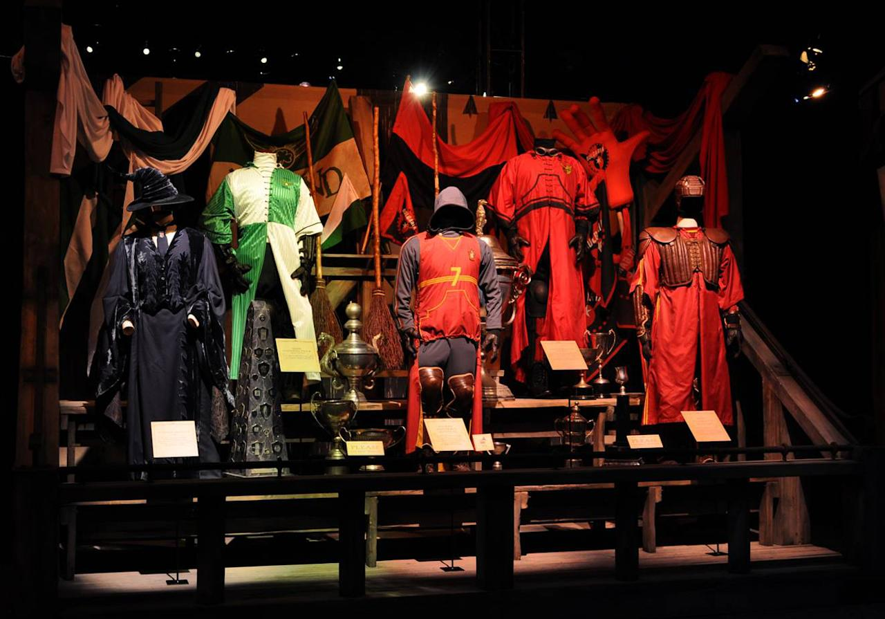 The grand collection of costumes worn by the actors during a Quidditch match will also be displayed. Besides these, Sybill Trelawny's exotic wardrobe and Professor Lockhart's flamboyant outfits will also be seen at the exhibition.