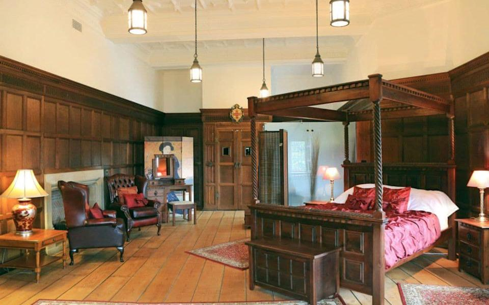 A grand bedroom at York's Lendal Tower