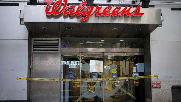 PHOTO: A shuttered Walgreens pharmacy store is seen during the coronavirus outbreak in Times Square in Manhattan in New York, March 20, 2020. (Mike Segar/Reuters)