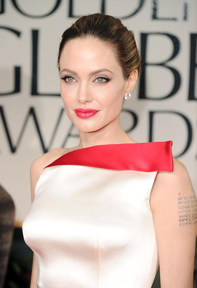 Angelina Jolie arrives at the 69th Annual Golden Globe Awards in Beverly Hills, California, on January 15.