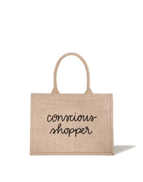 <p>This <span>Conscious Shopper Reusable Shopping Bag</span> ($20) will help you to be mindful of the purchases you make.</p>