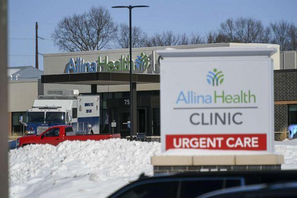 PHOTO: Police investigate a shooting in which at least five people were shot at a Allina Health clinic in Buffalo, Minn., Feb. 9, 2021. (Craig Lassig/EPA via Shutterstock)