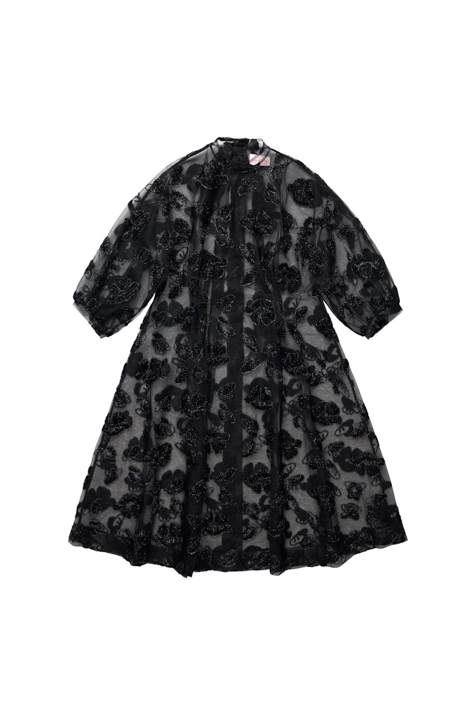 <p><span>Simone Rocha x H&amp;M Tinsel-Patterned Dress</span> ($249).</p>