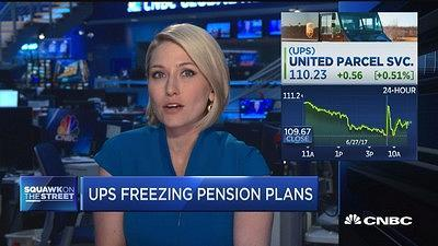 CNBC's Morgan Brennan reports on UPS's decision to freeze pension plans for non-union employees. The company plans to move those employees to 401(k) plans by 2023. The move affects 17 percent of UPS' staff.