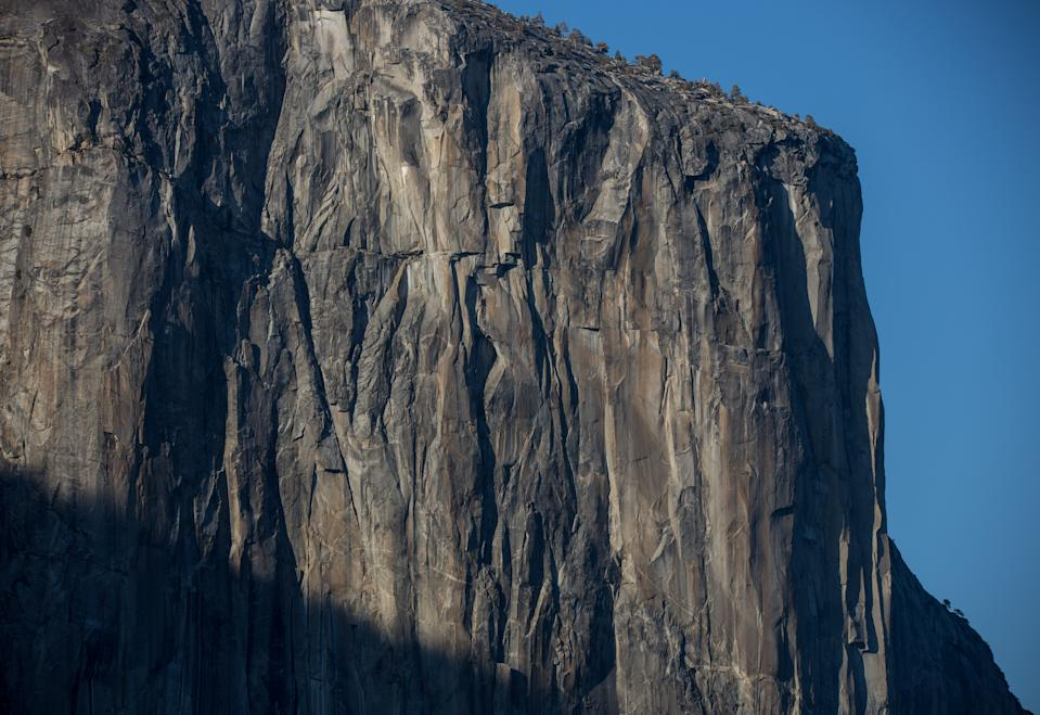YOSEMITE VALLEY, CA - AUGUST 13:  The west face of El Capitan is viewed from Tunnel View on August 13, 2019, in Yosemite Valley, California. With the arrival of summer, the estimated 600,000 monthly visitors endure traffic congestion, road construction projects, and hot weather, in addition to the scenic beauty. (Photo by George Rose/Getty Images)