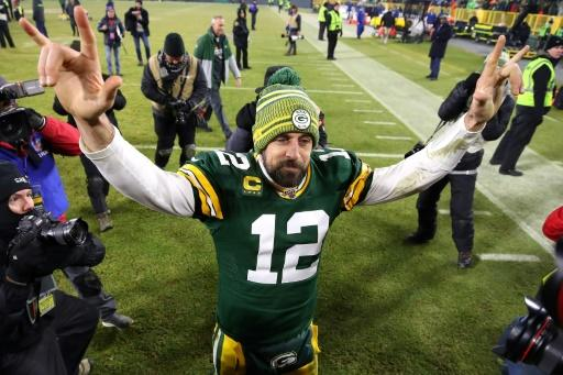 Green Bay quarterback Aaron Rodgers celebrates a playoff win over Seattle and hopes for another Sunday at San Francisco to reach Super Bowl 54