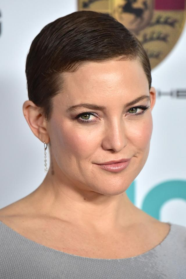 "<p><a rel=""nofollow"" href=""http://www.goodhousekeeping.com/beauty/hair/tips/g409/celebrity-hairstyles-pixie/"">Pixie cuts</a> are surprisingly versatile. In this case, Kate Hudson is wearing hers deeply parted and slicked all to one side for a more formal look. Try a gel like Redken Short Sculpt 19<span> ($24, <a rel=""nofollow"" href=""http://www.ulta.com/fashion-collection-short-sculpt-19?productId=xlsImpprod12292095"">ulta.com</a>) to keep your hair in place without stiffness.</span></p>"