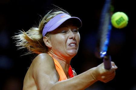 Tennis - WTA Stuttgart Tennis Grand Prix - Maria Sharapova of Russia v Roberta Vinci of Italy - Stuttgart, Germany - 26/4/17. Maria Sharapova of Russia in action. REUTERS/Ralph Orlowski