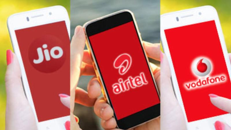 Daily and weekly prepaid plans of Jio, Airtel, Vodafone, Idea