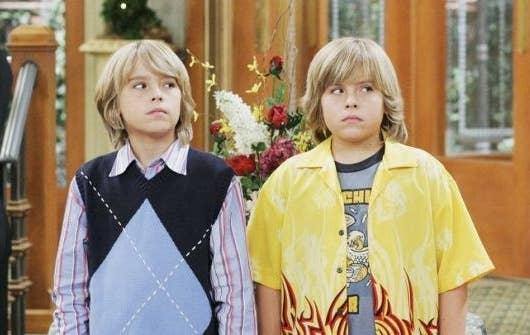 Dylan and Cole Spouse in the Tipton Hotel lobby
