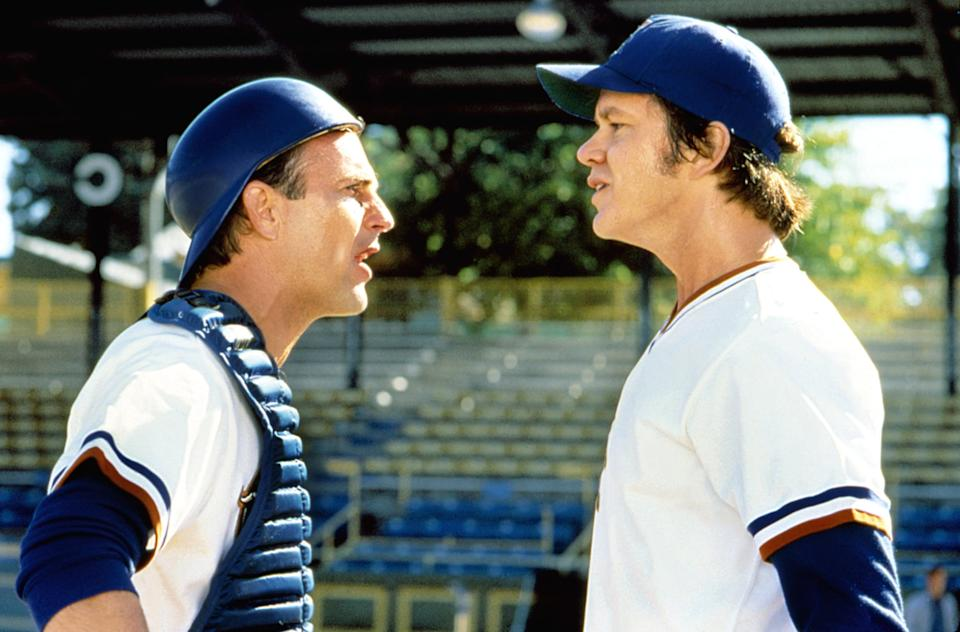 Kevin Costner and Tim Robbins square off in 'Bull Durham.' (Photo: MGM)