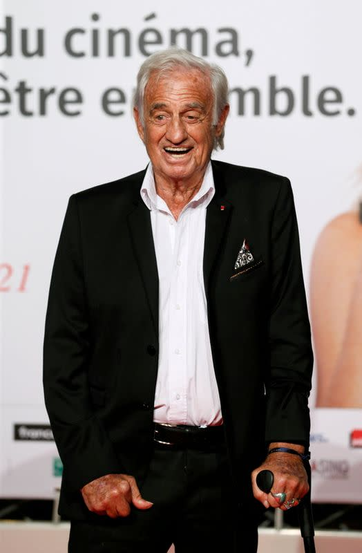FILE PHOTO: Actor Jean Paul Belmondo attends the opening of the Lumiere 2018 Grand Lyon Film Festival, in Lyon
