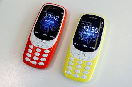 FILE PHOTO: The Nokia 3310 is seen in an office in London, Britain February 24, 2017. REUTERS/Eddie Keogh/File Photo