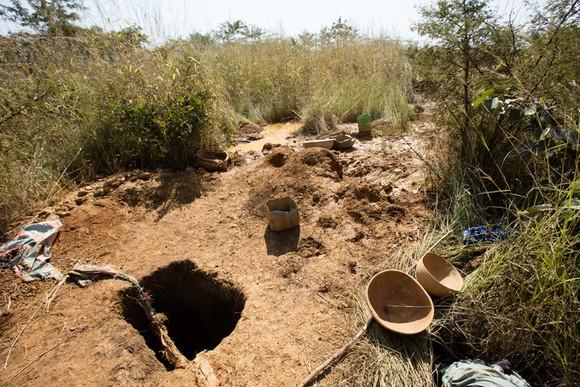 An small, family-owned gold mine in Africa.