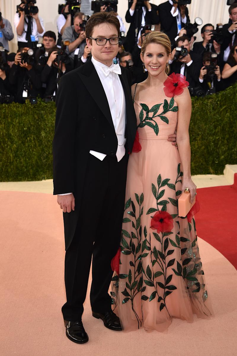 """Charles Shaffer and Elizabeth Cordry attend the """"Manus x Machina: Fashion In An Age Of Technology"""" Costume Institute Gala at Metropolitan Museum of Art on May 2, 2016 in New York City."""