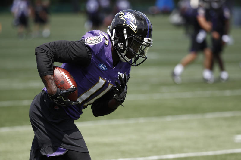 The Ravens cut wide receiver Breshad Perriman, a 2015 first-round pick. (AP)