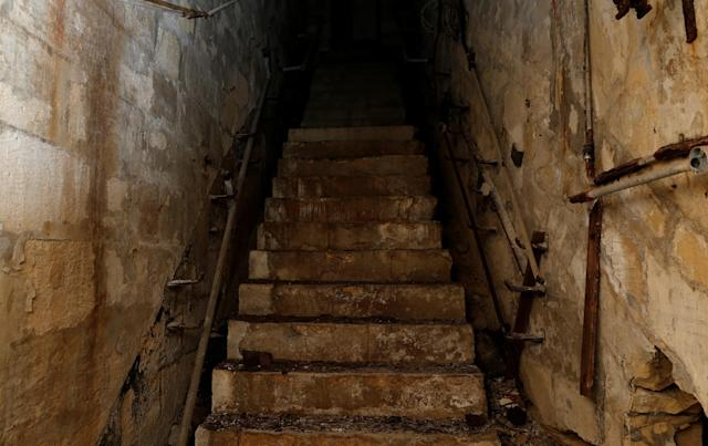 <p>A staircase leads upwards at the NATO tunnels, dating back to the Cold War, in the War Headquarters tunnels beneath Valletta, Malta, March 28, 2017. (Photo: Darrin Zammit Lupi/Reuters) </p>