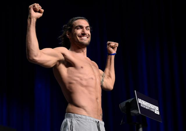 "UFC middleweight Elias ""The Spartan"" Theodorou will be the first ""ring boy"" of MMA. (Photo: Getty Images)"