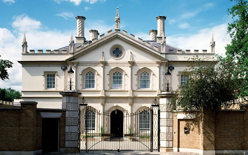 The Regent's Park Villas resemble the sort of romantic addresses in which Lord Byron might have conducted a soiree. But they were built very recently indeed - This content is subject to copyright.