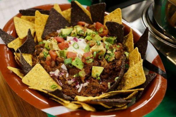 PHOTO: Marcus Samuelsson's Yebeg Wat chili served on top of tortilla chips. (ABC News)