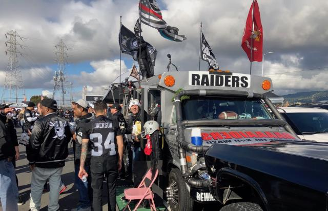 The AC12 Raider Nation Bus will make the trip to Las Vegas. (Torrey Hart/Yahoo Sports)