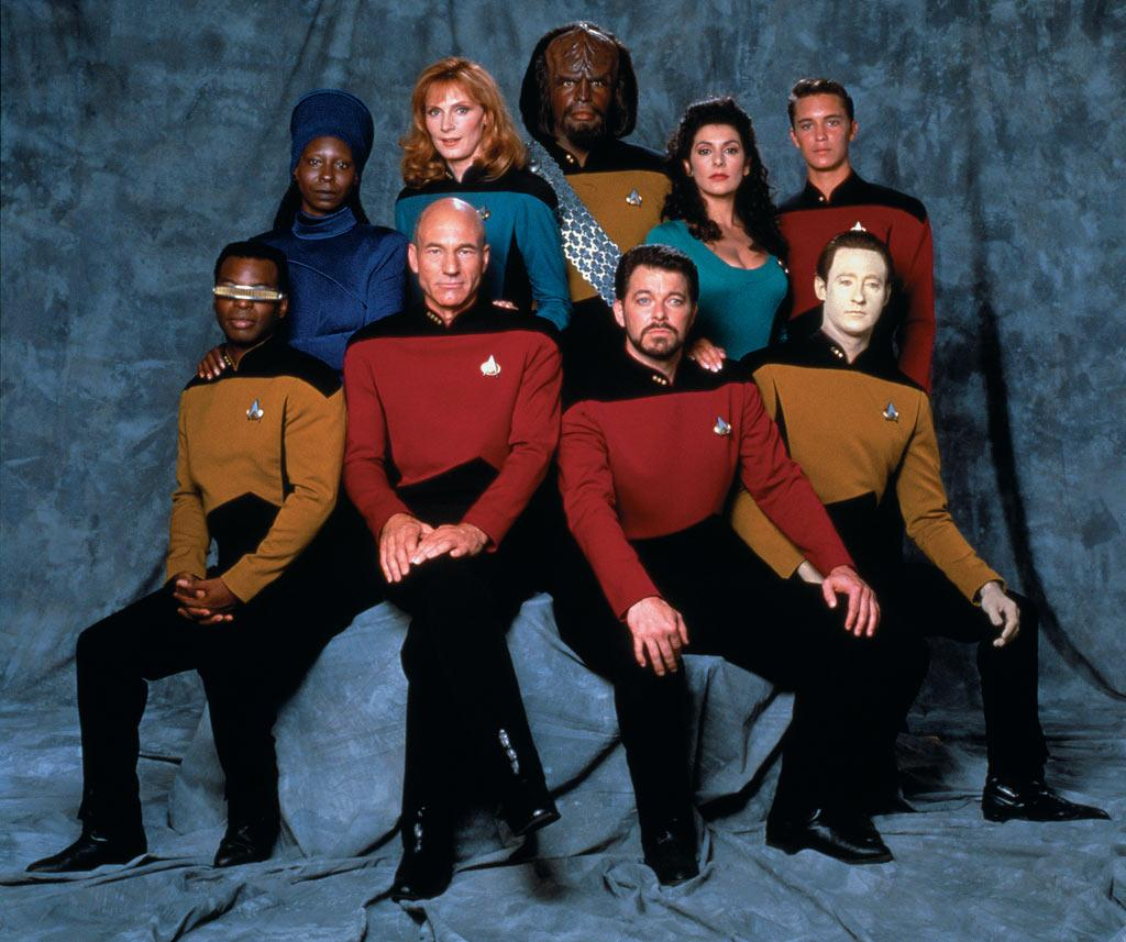 "Nearly two decades after the end of the original series, Roddenberry returned to the final frontier with a new crew, new voyages and a new Enterprise, led by Patrick Stewart as Captain Jean-Luc Picard on <a href=""/star-trek-the-next-generation/show/33814"">""Star Trek: The Next Generation""</a>  (1987-1994). Set in the 24th century, nearly 80 years after Kirk's era, the series featured some of Star Trek's most enduring characters, including the yellow-skinned android Data and Starfleet's first Klingon, Worf.  The show was the longest running series of the franchise and was nominated for the Emmy for Best Dramatic Series in its seventh and final season."