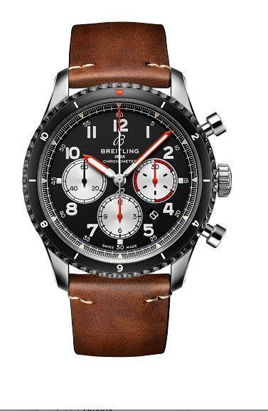 """<p>Aviator 8 B01 Chronograph 43 Mosquito</p><p> <a class=""""link rapid-noclick-resp"""" href=""""https://go.redirectingat.com?id=127X1599956&url=https%3A%2F%2Fwww.goldsmiths.co.uk%2FBreitling-Aviator-8-B01-Chronograph-43-Mosquito-Watch%2Fp%2F17531774%2F&sref=https%3A%2F%2Fwww.menshealth.com%2Fuk%2Fstyle%2Fwatches%2Fg35332587%2Fbest-mens-watche1%2F"""" rel=""""nofollow noopener"""" target=""""_blank"""" data-ylk=""""slk:SHOP"""">SHOP</a><br>The brand's latest model honours the de Havilland Mosquito, the British aircraft whose lightweight 'wooden wonder' construction made it one of World War II's fastest planes. The red and orange accents are particularly nice.</p><p>£5,980; <a href=""""https://www.breitling.com/gb-en/?gclid=Cj0KCQiAz53vBRCpARIsAPPsz8U2fvxRdb1EMPM0a3s6-5aKnoz6xYZmddwIkKmXUjCidNYY9MYuSWcaAmRAEALw_wcB&gclsrc=aw.ds"""" rel=""""nofollow noopener"""" target=""""_blank"""" data-ylk=""""slk:breitling.com"""" class=""""link rapid-noclick-resp"""">breitling.com</a> </p>"""