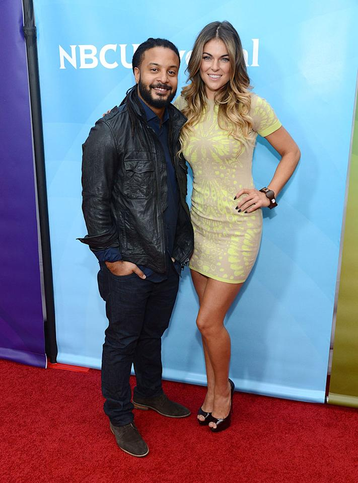 """Brandon Jay McLaren and Serinda Swan attend NBCUniversal's """"2013 Winter TCA Tour"""" Day 2 at Langham Hotel on January 7, 2013 in Pasadena, California."""