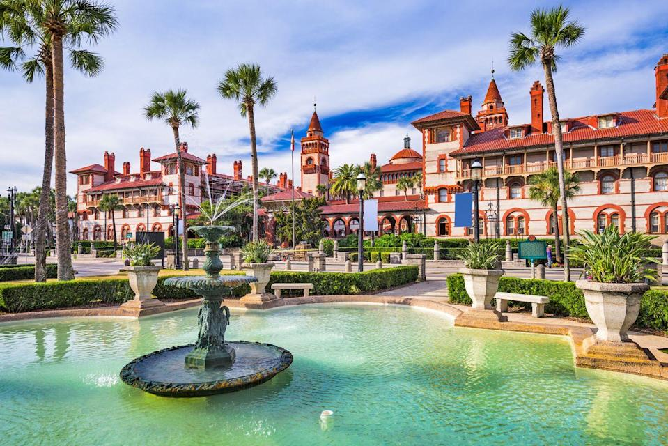 """<p><a href=""""https://www.oldcity.com/history-and-culture/"""" rel=""""nofollow noopener"""" target=""""_blank"""" data-ylk=""""slk:St. Augustine was settled in the mid-1500s"""" class=""""link rapid-noclick-resp"""">St. Augustine was settled in the mid-1500s</a> by the Spanish, making is the oldest city in America. The influence from Spain is still really heavy, with buildings like stone fortress <a href=""""https://www.nps.gov/casa/index.htm"""" rel=""""nofollow noopener"""" target=""""_blank"""" data-ylk=""""slk:Castillo de San Marcos"""" class=""""link rapid-noclick-resp"""">Castillo de San Marcos</a> on the Matanzas Bay and <a href=""""https://lightnermuseum.org/"""" rel=""""nofollow noopener"""" target=""""_blank"""" data-ylk=""""slk:Lightner Museum"""" class=""""link rapid-noclick-resp"""">Lightner Museum</a>, which features a Spanish Renaissance Revival style. The brick roads and Spanish architecture all over, along with the tall palm trees, make this city incredibly unique. </p>"""