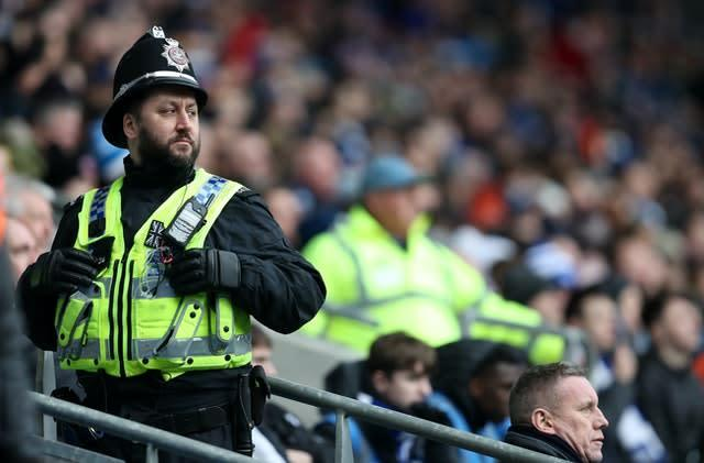 Police representatives are discussing a safe return for football (David Davies/PA)