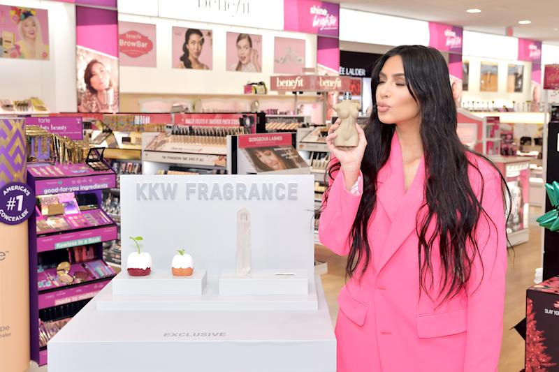 CALABASAS, CA - DECEMBER 06: Kim Kardashian West attends KKW Beauty at ULTA Beauty at Courtyard at the Commons on December 6, 2018 in Calabasas, California. (Photo by Stefanie Keenan/Getty Images for KKW Beauty)